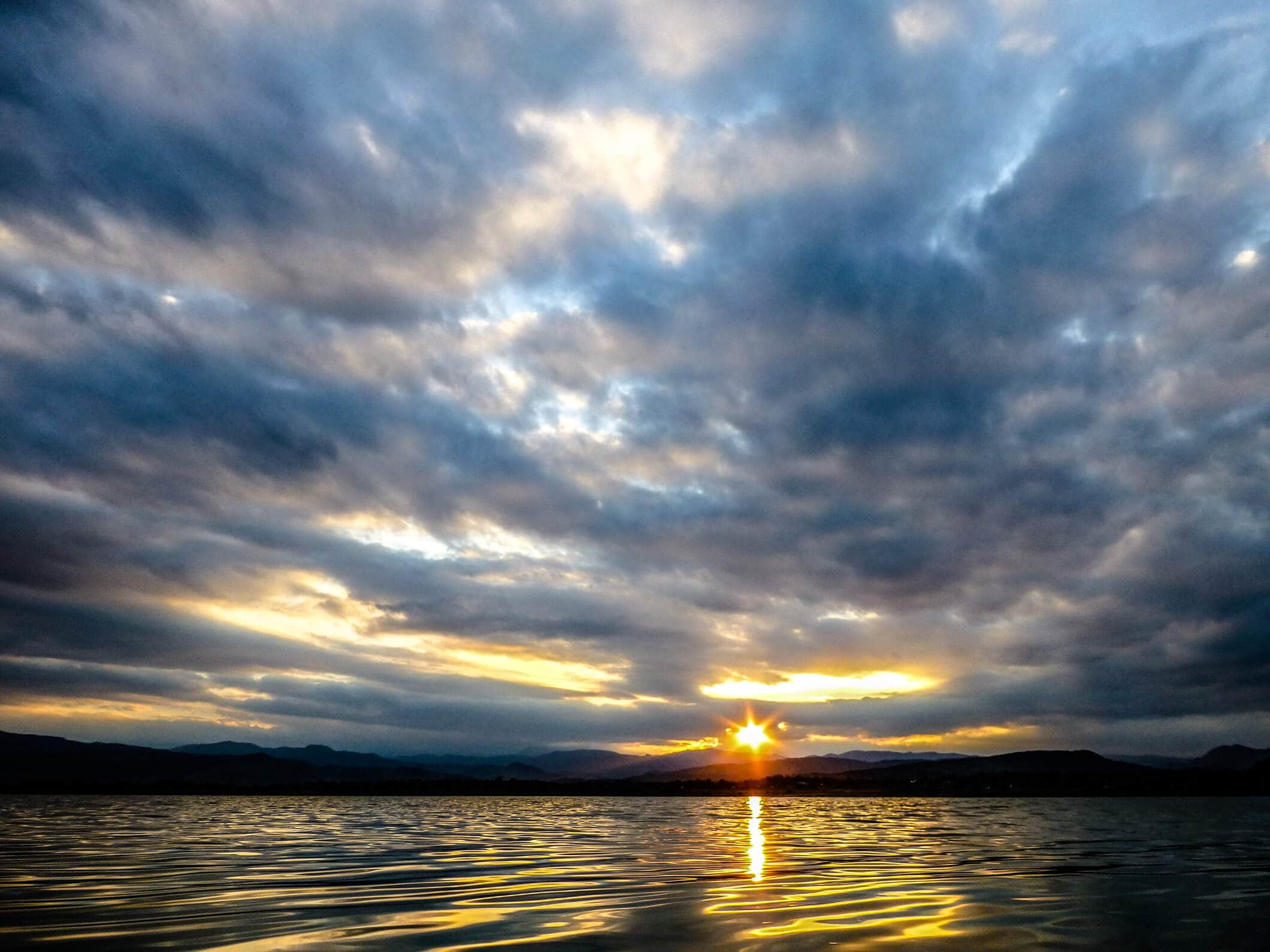 Sunset on Mac Lake