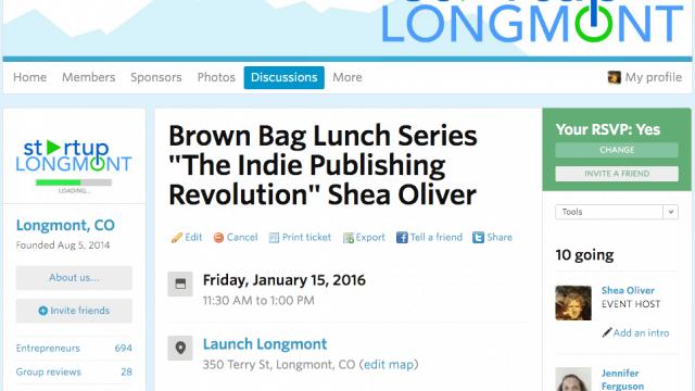 Start Up Longmont Brown Bag