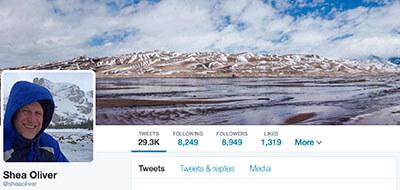 Shea's Twitter Profile