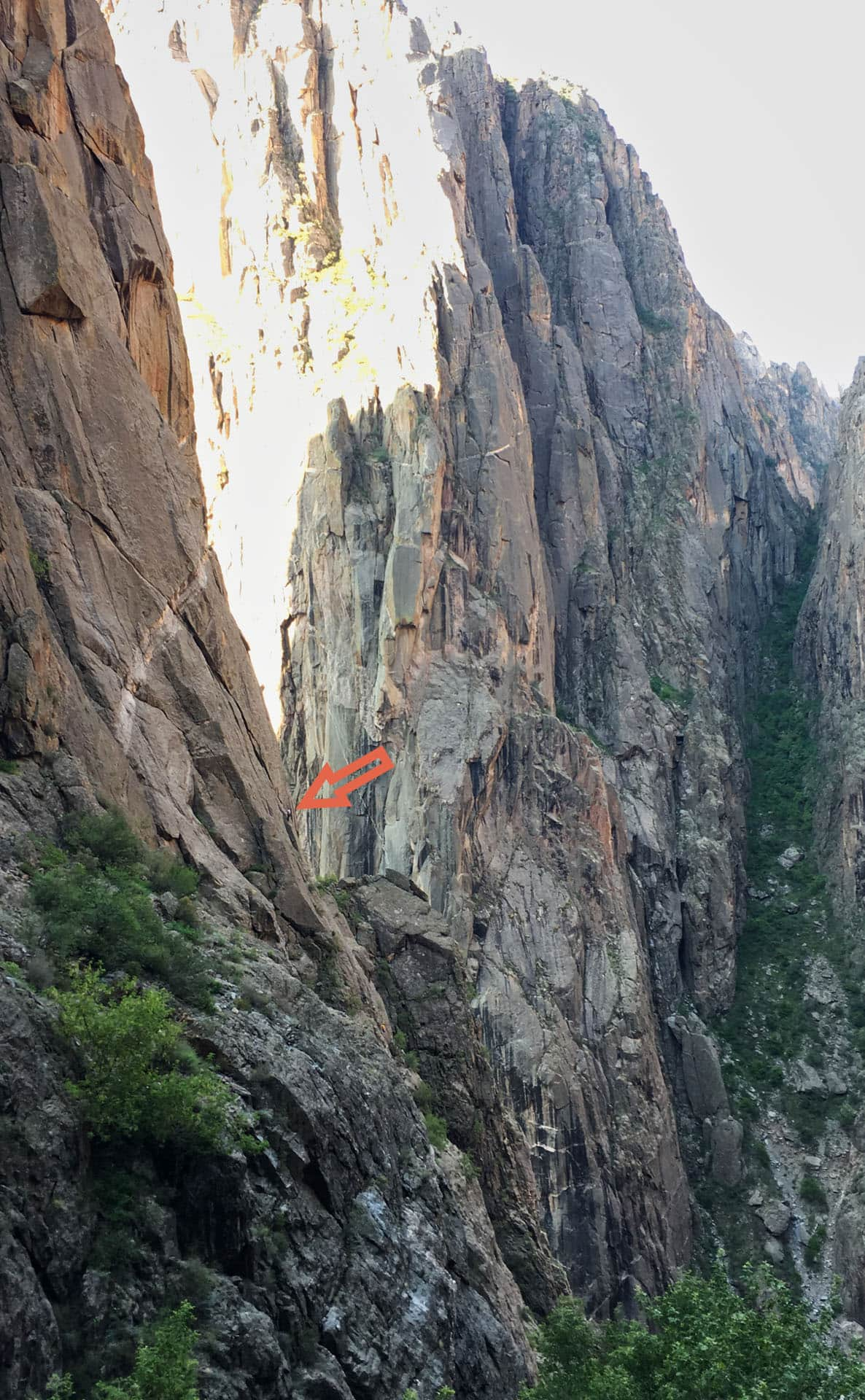 Climber in the Black Canyon