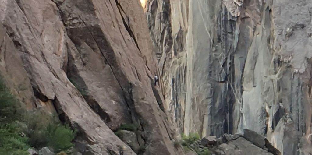 Climber in the Black Canyon of the Gunnison