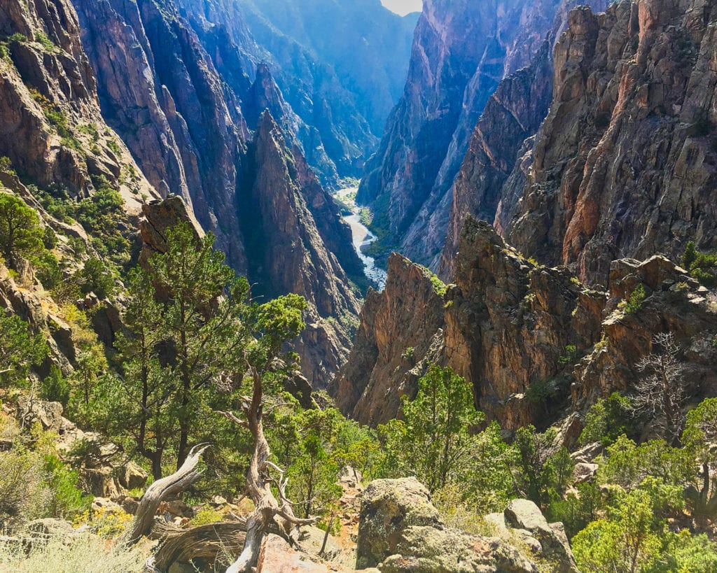 Looking Back Down The Black Canyon of the Gunnison