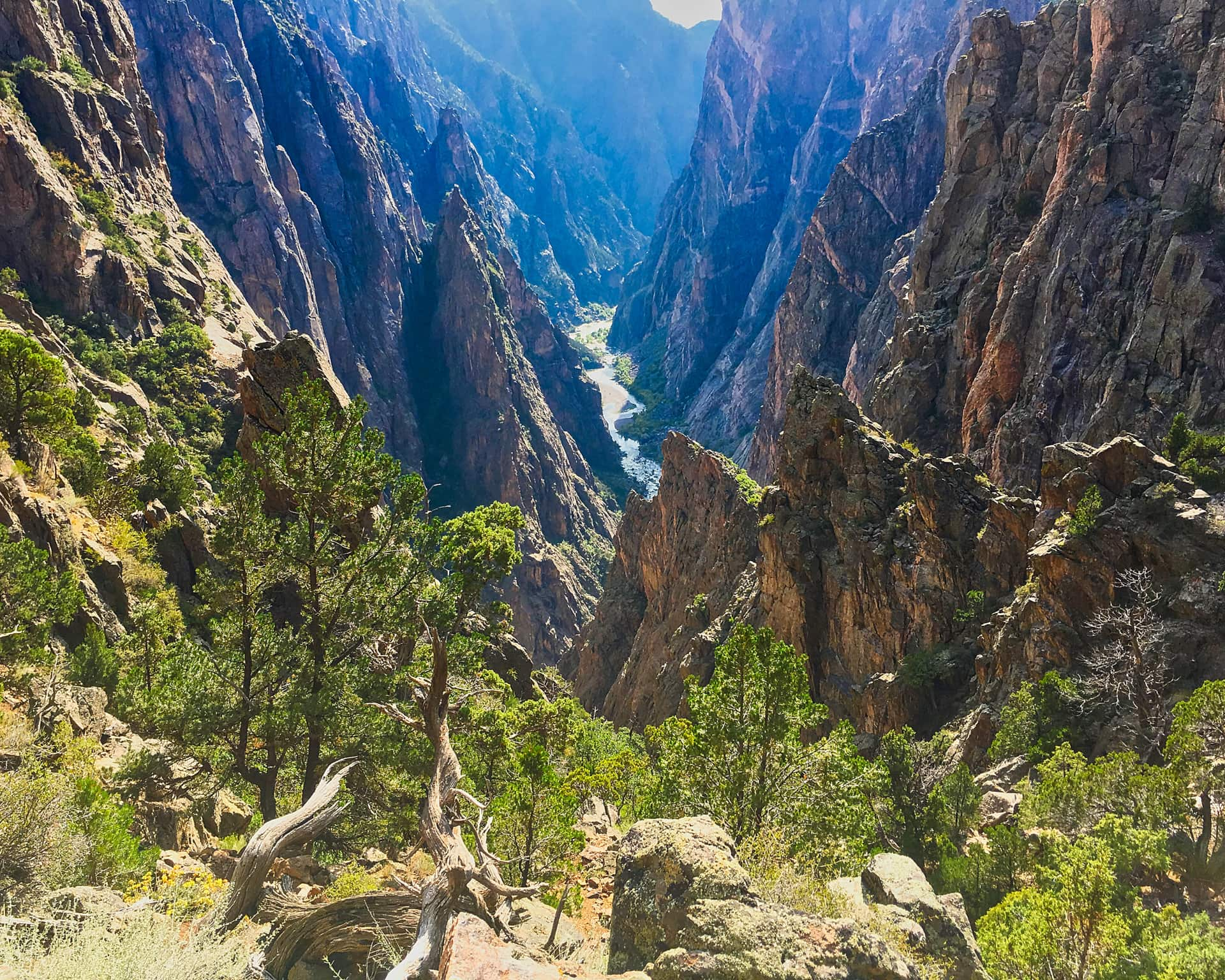 Looking Back Down The Canyon