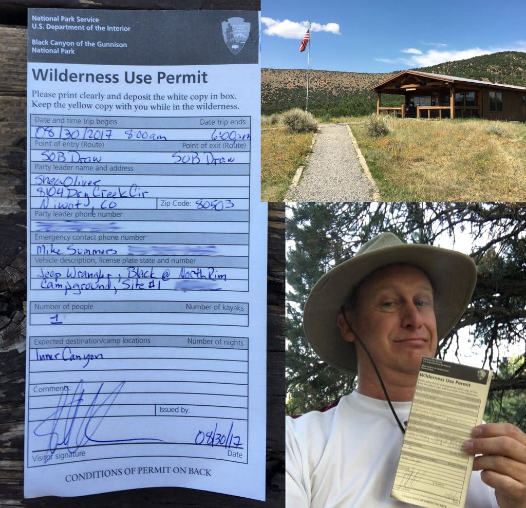 Wilderness Permit for Black Canyon