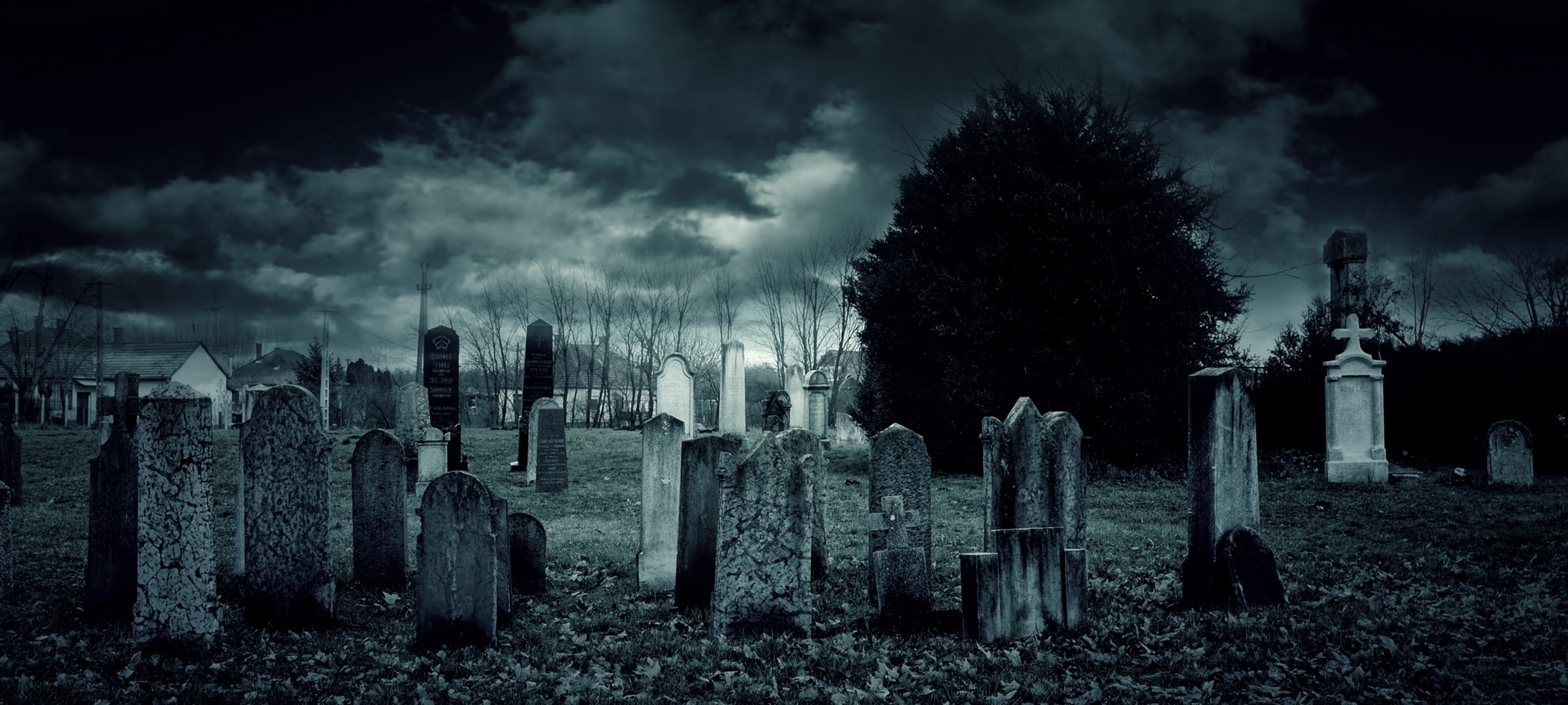 A Graveyard at Night