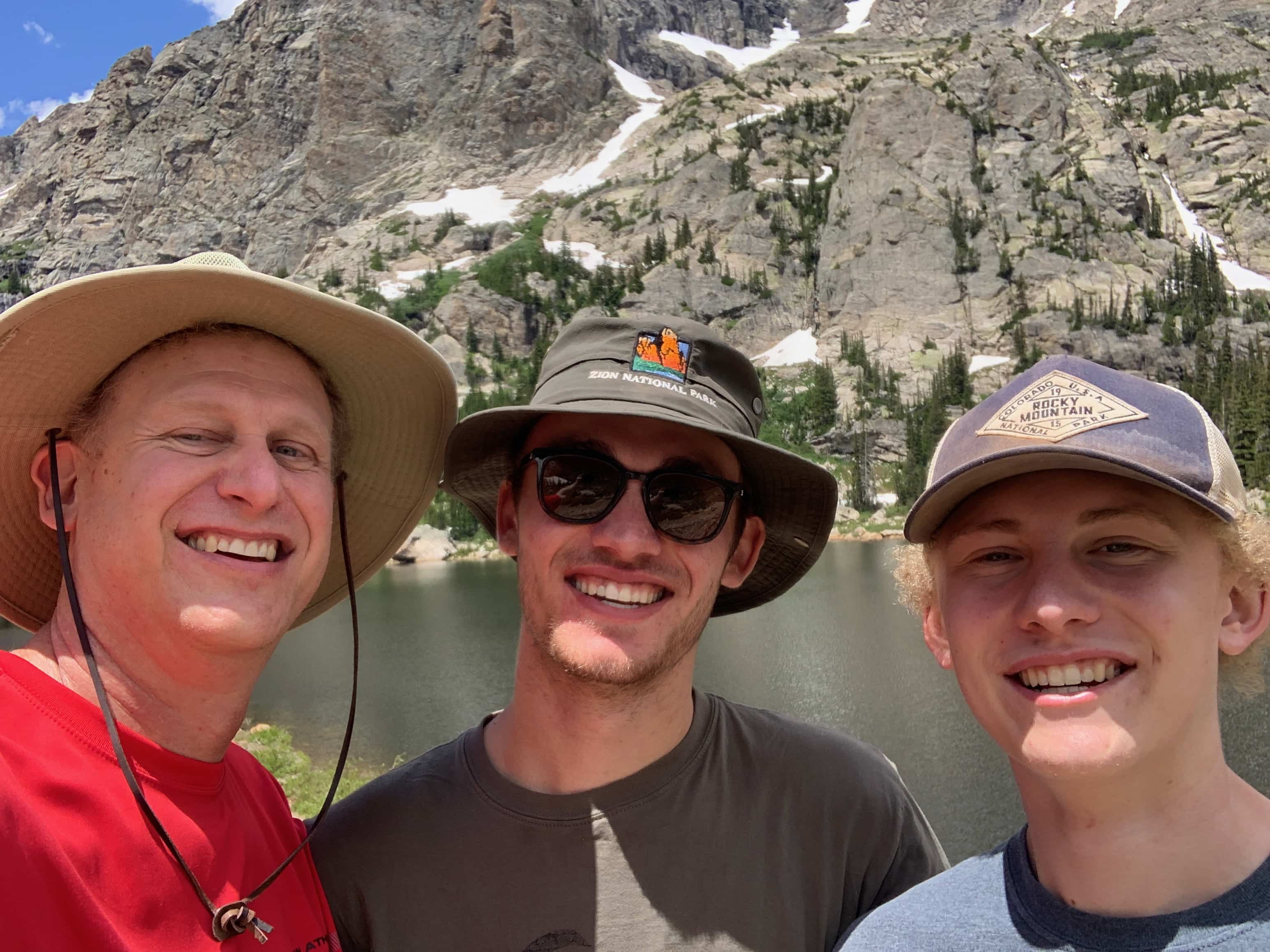 Shea Michael and Brandon Selfie at Pear Lake