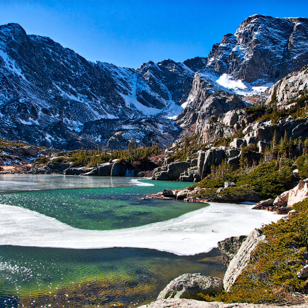 Glass Lake in Rocky Mountain National Park